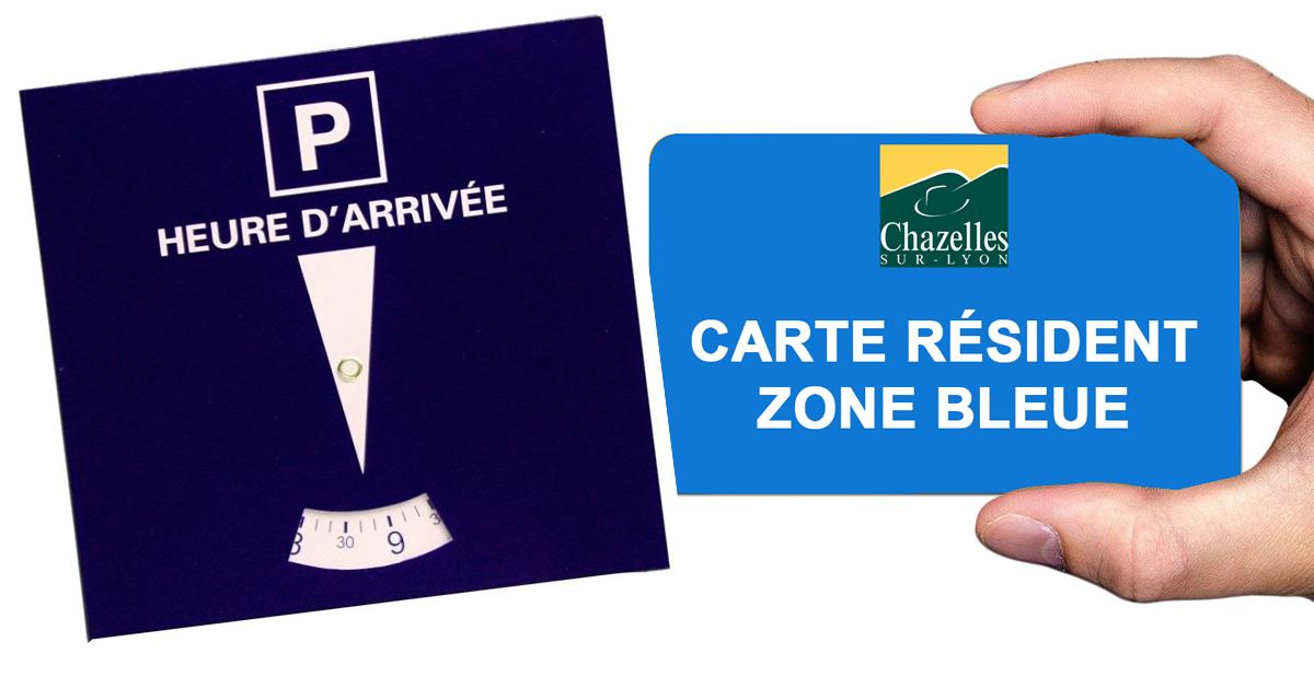 Visuel carte résident zone bleue