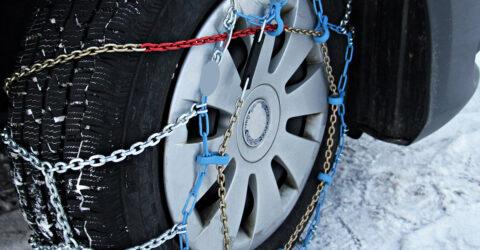 Visuel pneus chaînes hiver